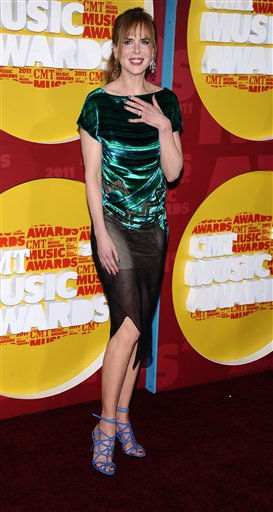"<div class=""meta image-caption""><div class=""origin-logo origin-image ""><span></span></div><span class=""caption-text"">Nicole Kidman arrives at the 2011 CMT Music Awards in Nashville, Tenn. on Wednesday, June 8, 2011.  (AP Photo/Charles Sykes) (AP Photo/ Charles Sykes)</span></div>"