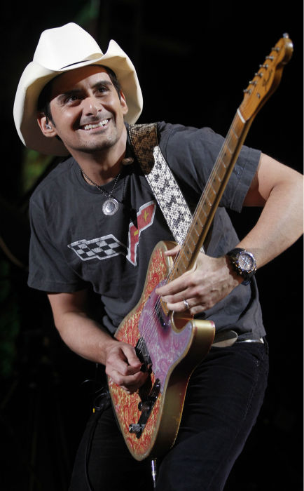 In this June 9, 2011 photo, Brad Paisley performs during the CMA Fan Festival in Nashville, Tenn. Brad Paisley performs at Rodeo Houston on Tuesday, March 4, 2014.  &#40;AP Photo&#47;Wade Payne&#41; <span class=meta>(AP Photo&#47; Wade Payne)</span>