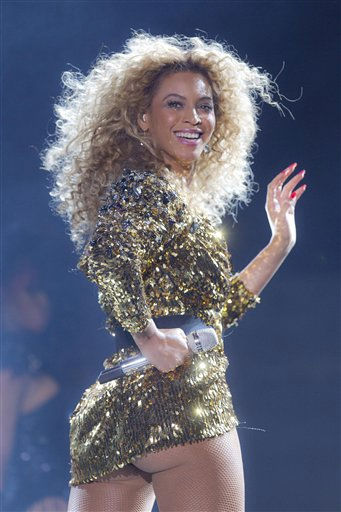U.S singer Beyonce performs on the Pyramid stage at Glastonbury Music Festival, Sunday, June 26, 2011. More than 170,000 ticket-holders are at Worthy Farm for the 41st Glastonbury Music Festival. <span class=meta>(AP Photo&#47; Joel Ryan)</span>