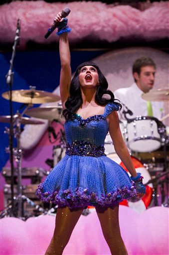 Katy Perry performs in concert at the Pepsi Music festival in Buenos Aires, Argentina, Tuesday Sept. 27, 2011.   <span class=meta>(AP Photo&#47; Victor R. Caivano)</span>