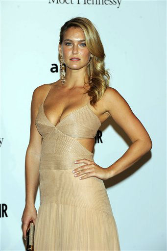 Israeli model Bar Refaeli  poses for photographer as he arrives at the Amfar charity event, part of the Fashion Week in Milan, Italy, Friday, Sept. 23, 2011. She is one of the celebrities rumored to be dancing on the 14th season of &#39;Dancing with the Stars&#39; on ABC. The official cast will be revealed on February 28 on ABC. <span class=meta>(AP Photo&#47; Giuseppe Aresu)</span>