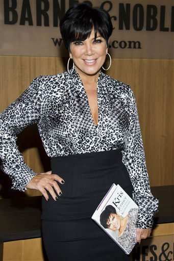 Kris Jenner attends a book signing for her memoir, &#34;Kris Jenner . . . and All Things Kardashian&#34;, at Barnes &amp; Noble in New York, Friday, Nov. 3, 2011. She is one of the celebrities rumored to be dancing on the 14th season of &#39;Dancing with the Stars&#39; on ABC. The official cast will be revealed on February 28 on ABC. <span class=meta>(AP Photo&#47; Charles Sykes)</span>