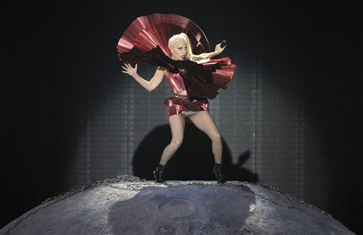 "<div class=""meta ""><span class=""caption-text "">Lady Gaga performs at the MTV European Music Awards 2011, in Belfast, Northern Ireland, Sunday, Nov. 6, 2011.   (AP Photo/ Joel Ryan)</span></div>"