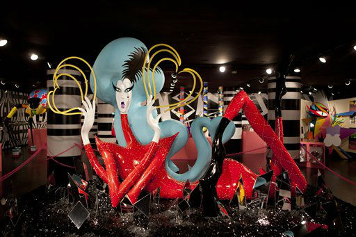 A sculpture is displayed at Gaga&#39;s Workshop, a collaborative fashion and lifestyle project between Lady Gaga and Barney&#39;s New York, at the Barney&#39;s store on East 60th Street in New York on Monday, Nov. 21, 2011. &#40;AP Photo&#47;Andrew Burton&#41; <span class=meta>(AP Photo&#47; Andrew Burton)</span>