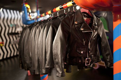 "<div class=""meta ""><span class=""caption-text "">Children's jackets are displayed at Gaga's Workshop, a collaborative fashion and lifestyle project between Lady Gaga and Barney's New York, at the Barney's store on East 60th Street in New York on Monday, Nov. 21, 2011. (AP Photo/Andrew Burton) (AP Photo/ Andrew Burton)</span></div>"