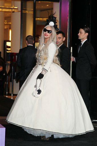 "<div class=""meta ""><span class=""caption-text "">Singer Lady Gaga appears at a ribbon cutting ceremony to launch Gaga's Workshop, a holiday retail experience representing Lady Gaga`s reinterpretation of Santa's workshop at Barneys department store in New York, Monday, Nov. 21, 2011.  A portion of the sales from Gaga's Workshop will be donated to the Born This Way Foundation. (AP Photo/StarPix, Amanda Schwab) (AP Photo/ Amanda Schwab)</span></div>"