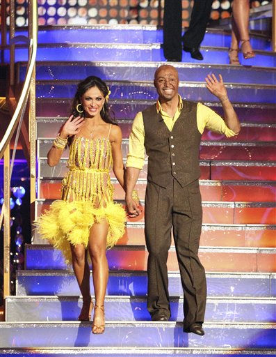 In this Monday, Nov. 21, 2011 photo provided by ABC, J.R. Martinez, right, is shown with his partner Karina Smirnoff on the celebrity dance competition series, &#34;Dancing with the Stars,&#34; in Los Angeles. Martinez and Smirnoff won the dance competition on Tuesday Nov. 22, 2011. &#40;AP Photo&#47;ABC, Adam Taylor&#41; <span class=meta>(AP Photo&#47; Adam Taylor)</span>