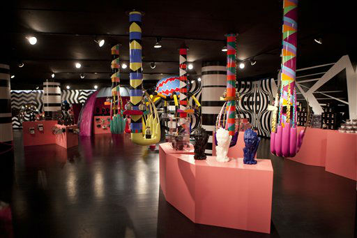 Displays are set up throughout Gaga&#39;s Workshop, a collaborative fashion and lifestyle project between Lady Gaga and Barney&#39;s New York, at the Barney&#39;s store on East 60th Street in New York on Monday, Nov. 21, 2011. &#40;AP Photo&#47;Andrew Burton&#41; <span class=meta>(AP Photo&#47; Andrew Burton)</span>