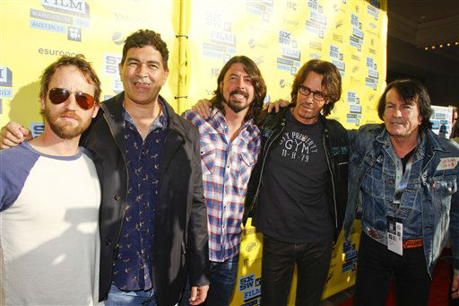 Musicians Nate, Mendel, Pat Smear, Dave Grohl, Rick Springfield and Lee Ving, left to right, arrive at a screening of his movie &#34;Sound City&#34; during the SXSW Film and Music Festival, on Wednesday, March 13, 2013 in Austin, Texas.   <span class=meta>(Photo&#47;Jack Plunkett)</span>