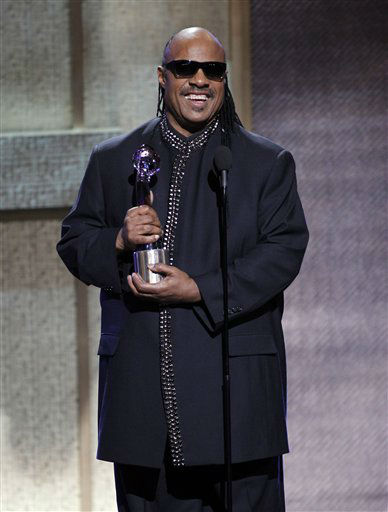 BET Honoree musician Stevie Wonder speaks after receiving the BTE Musical Arts Award during the BET Honors at the Warner Theatre in Washington on Saturday, Jan. 14, 2012. He is one of the celebrities rumored to be dancing on the 14th season of &#39;Dancing with the Stars&#39; on ABC. The official cast will be revealed on February 28 on ABC. <span class=meta>(AP Photo&#47; Jose Luis Magana)</span>