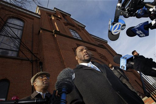 "<div class=""meta ""><span class=""caption-text "">New Hope Baptist Church Pastor Joe A. Carter talks about the death of Whitney Houston and the effect it has on the congregation of his church in Newark, N.J., Sunday, Feb. 12, 2012. As a young girl, Houston sang in the choir at New Hope Baptist Church. Houston, who ruled as pop music's queen until her majestic voice and regal image were ravaged by drug use, erratic behavior and a tumultuous marriage to singer Bobby Brown, died Saturday. She was 48.   (AP Photo/ Mel Evans)</span></div>"