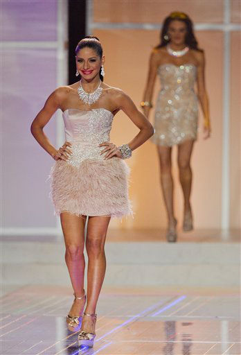Miss New York Johanna Sambucini walks the runway during the 2012 Miss USA pageant, Sunday, June 3, 2012, in Las Vegas. &#40;AP Photo&#47;Julie Jacobson&#41; <span class=meta>(AP Photo&#47; Julie Jacobson)</span>
