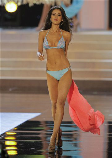 Miss Colorado Marybel Gonzalez walks the runway during the swimsuit competition during the 2012 Miss USA pageant, Sunday, June 3, 2012, in Las Vegas. &#40;AP Photo&#47;Julie Jacobson&#41; <span class=meta>(AP Photo&#47; Julie Jacobson)</span>