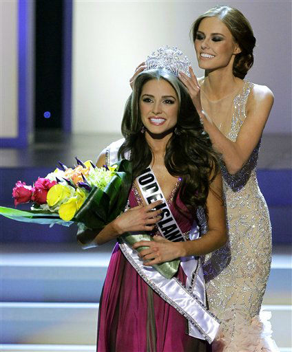 "<div class=""meta ""><span class=""caption-text "">Miss Rhode Island Olivia Culpo is crowned Miss USA 2012 during the Miss USA pageant, Sunday, June 3, 2012, in Las Vegas. (AP Photo/Julie Jacobson) (AP Photo/ Julie Jacobson)</span></div>"