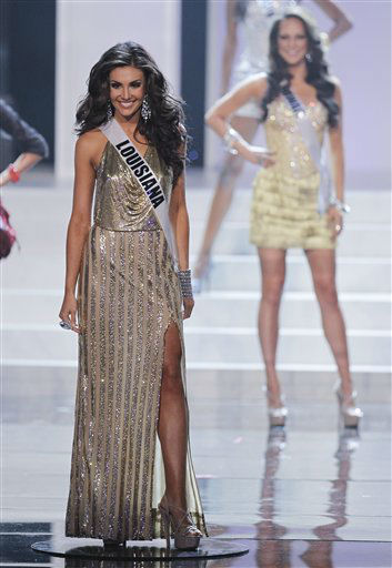 "<div class=""meta ""><span class=""caption-text "">Erin Edmiston Miss Louisiana is named as one of 16 finalists during the 2012 Miss USA pageant, Sunday, June 3, 2012, in Las Vegas. (AP Photo/Julie Jacobson) (AP Photo/ Julie Jacobson)</span></div>"