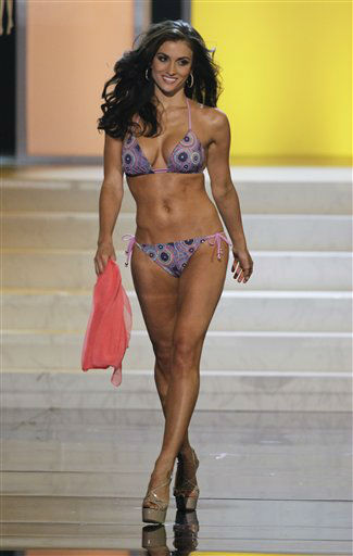 "<div class=""meta image-caption""><div class=""origin-logo origin-image ""><span></span></div><span class=""caption-text"">Miss Tennessee Jessica Hibler competes in the swimsuit portion during the 2012 Miss USA pageant, Sunday, June 3, 2012, in Las Vegas. (AP Photo/Julie Jacobson) (AP Photo/ Julie Jacobson)</span></div>"