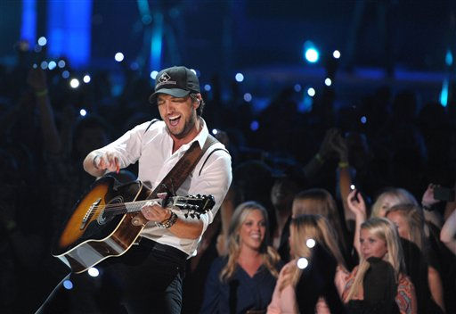 "<div class=""meta ""><span class=""caption-text "">Musician Luke Bryan performs at the 2012 CMT Music Awards on Wednesday, June 6, 2012 in Nashville, Tenn. (Photo by John Shearer/Invision/AP) (Photo/John Shearer)</span></div>"