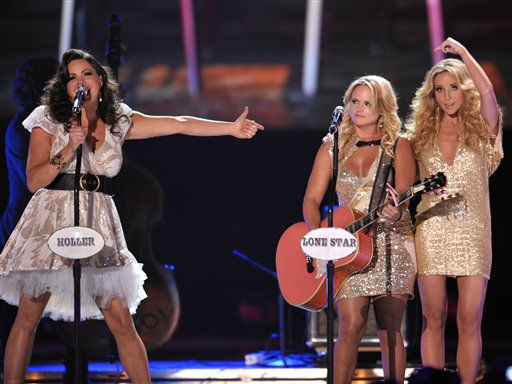 "<div class=""meta ""><span class=""caption-text "">From left, Angaleena Presley, Miranda Lambert and Ashley Monroe of Pistol Annies perform at the 2012 CMT Music Awards on Wednesday, June 6, 2012 in Nashville, Tenn. (Photo by John Shearer/Invision/AP) (Photo/John Shearer)</span></div>"