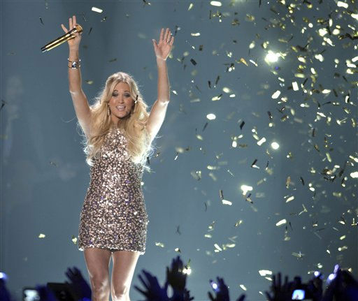 "<div class=""meta ""><span class=""caption-text "">Singer Carrie Underwood performs at the 2012 CMT Music Awards on Wednesday, June 6, 2012 in Nashville, Tenn. (Photo by John Shearer/Invision/AP) (Photo/John Shearer)</span></div>"