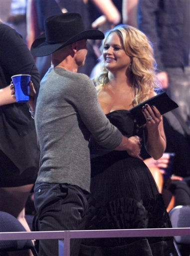 Kenny Chesney, left, and Miranda Lambert at the 2012 CMT Music Awards on Wednesday, June 6, 2012 in Nashville, Tenn.
