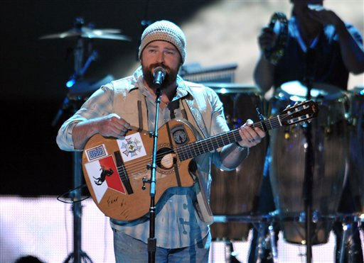 Zac Brown of the Zac Brown Band performs at the 2012 CMT Music Awards on Wednesday, June 6, 2012 in Nashville, Tenn.