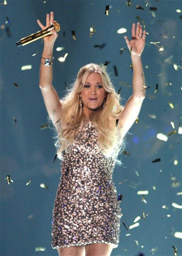 "<div class=""meta ""><span class=""caption-text "">Carrie Underwood performs at the 2012 CMT Music Awards on Wednesday, June 6, 2012 in Nashville, Tenn.</span></div>"