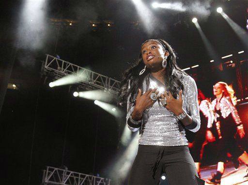 Singer Coco Jones performs at the Essence Music Festival in New Orleans, Thursday, July 5, 2012. This is the first day of the four day music festival. &#40;Photo by Bill Haber&#47;Invision&#47;AP&#41; <span class=meta>(Photo&#47;Bill Haber)</span>