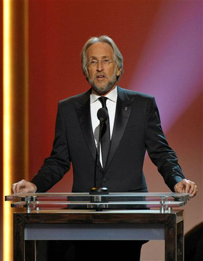 President of the National Academy of Recording Arts and Sciences Neil Portnow speaks onstage during the pre-telecast at the 55th annual Grammy Awards on Sunday, Feb. 10, 2013, in Los Angeles.  <span class=meta>(AP photo)</span>