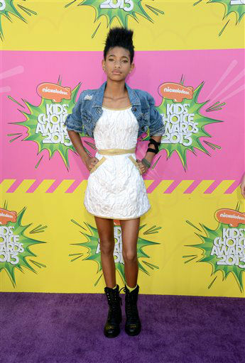 Willow Smith arrives at the 26th annual Nickelodeon&#39;s Kids&#39; Choice Awards on Saturday, March 23, 2013, in Los Angeles. &#40;Photo by Jordan Strauss&#47;Invision&#47;AP&#41; <span class=meta>(AP photo)</span>