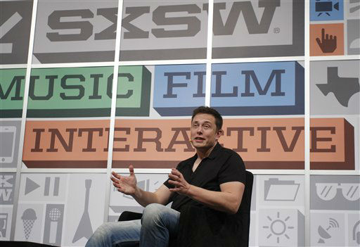 SpaceX CEO Elon Musk gives the opening keynote at the SXSW Interactive Festival on Saturday, March 9, 2013 in Austin, Texas.  <span class=meta>(AP Photo&#47; Jack Plunkett)</span>