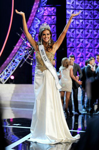 Miss Connecticut USA Erin Brady poses onstage after Brady won the 2013 Miss USA pageant, Sunday, June 16, 2013, in Las Vegas.   <span class=meta>(Photo&#47;Jeff Bottari)</span>