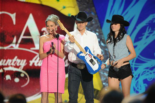 Jewel and Ty Murray appear on stage during the American Country Awards on Monday, Dec. 10, 2012, in Las Vegas. &#40;Photo by Al Powers&#47;Powers Imagery&#47;Invision&#47;AP&#41; <span class=meta>(Photo&#47;Al Powers)</span>