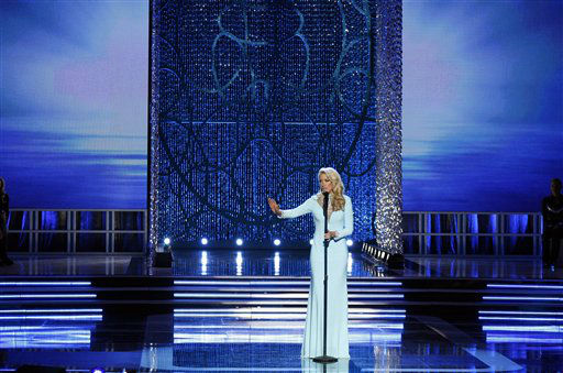Miss Tennessee Chandler Lawson competes in the talent portion of the Miss America 2013 pageant on Saturday, Jan. 12, 2013, in Las Vegas.  <span class=meta>(AP Photo&#47; Isaac Brekken)</span>