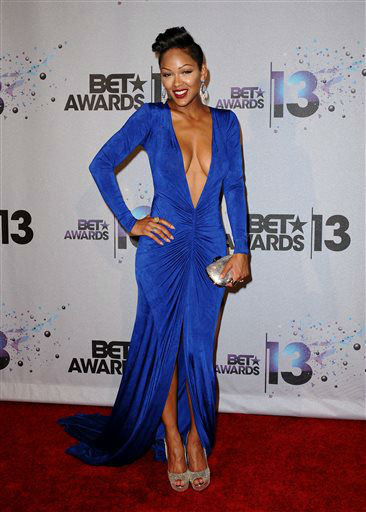 "<div class=""meta ""><span class=""caption-text "">Presenter Meagan Good poses backstage at the BET Awards at the Nokia Theatre on Sunday, June 30, 2013, in Los Angeles. (Photo by Scott Kirkland/Invision/AP) (AP Photo/ Scott Kirkland)</span></div>"