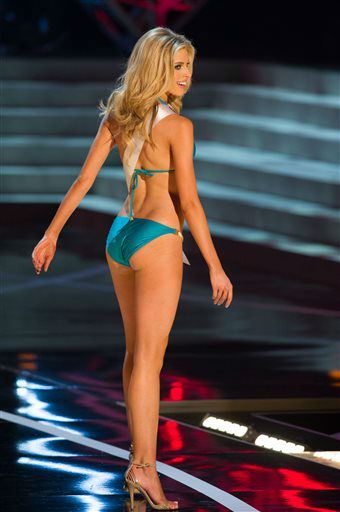 In this photo provided by the Miss Universe Organization,  Miss Oklahoma USA 2013, Makenzie Muse,  competes in her swimsuit during the  2013 Miss USA Competition Preliminary Show in Las Vegas on Wednesday June 12, 2013.   She will compete for the title of Miss USA 2013 and the coveted Miss USA Diamond Nexus Crown on June 16, 2013.    <span class=meta>(AP Photo&#47; Darren Decker)</span>