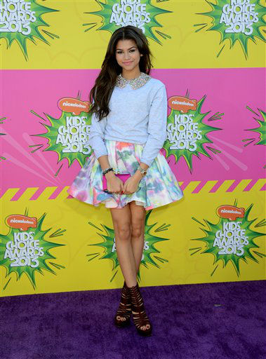 "<div class=""meta image-caption""><div class=""origin-logo origin-image ""><span></span></div><span class=""caption-text"">Actress Zendaya arrives at the 26th annual Nickelodeon's Kids' Choice Awards on Saturday, March 23, 2013, in Los Angeles. (Photo by Jordan Strauss/Invision/AP) (Photo/Jordan Strauss)</span></div>"