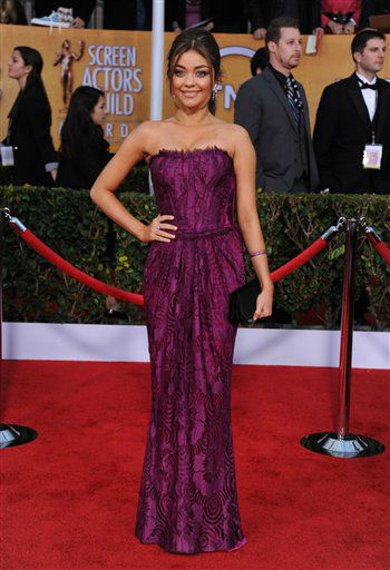 Sarah Hyland arrives at the 19th Annual Screen Actors Guild Awards at the Shrine Auditorium in Los Angeles on Sunday, Jan. 27, 2013.   <span class=meta>(Photo&#47;Jordan Strauss)</span>