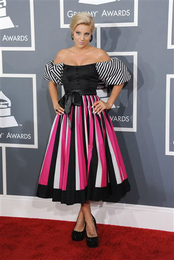 "<div class=""meta image-caption""><div class=""origin-logo origin-image ""><span></span></div><span class=""caption-text"">Lisa D'Amato arrives at the 55th annual Grammy Awards on Sunday, Feb. 10, 2013, in Los Angeles.  (AP photo)</span></div>"