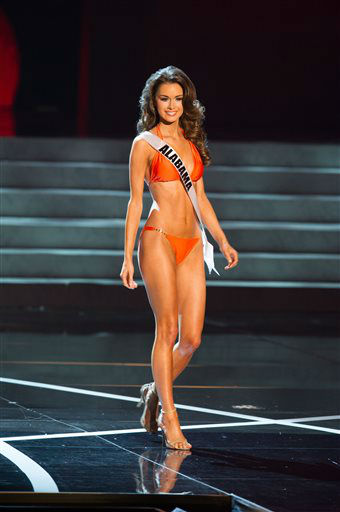 In this photo provided by the Miss Universe Organization,  Miss Alabama USA 2013, Mary Margaret McCord,  competes in her swimsuit during the  2013 Miss USA Competition Preliminary Show in Las Vegas on Wednesday June 12, 2013.   She will compete for the title of Miss USA 2013 and the coveted Miss USA Diamond Nexus Crown on June 16, 2013.   <span class=meta>(AP Photo&#47; Darren Decker)</span>