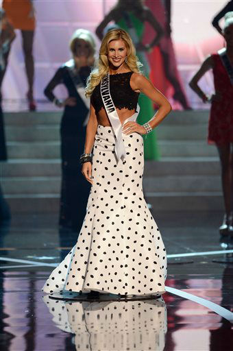 "<div class=""meta ""><span class=""caption-text "">Miss Pennsylvania Jessica Billings from Berwyn walks the runway during the introductions of the Miss USA 2013 pageant, Sunday, June 16, 2013, in Las Vegas.  (AP Photo/ Jeff Bottari)</span></div>"