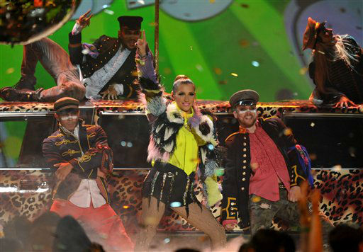 Singer Ke&#36;ha performs at the 26th annual Nickelodeon&#39;s Kids&#39; Choice Awards on Saturday, March 23, 2013, in Los Angeles. &#40;Photo by John Shearer&#47;Invision&#47;AP&#41; <span class=meta>(Photo&#47;John Shearer)</span>