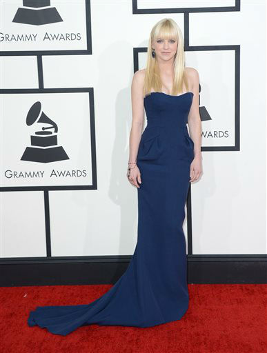 "<div class=""meta ""><span class=""caption-text "">Anna Faris arrives at the 56th annual Grammy Awards at Staples Center on Sunday, Jan. 26, 2014, in Los Angeles.   (Photo/Jordan Strauss)</span></div>"