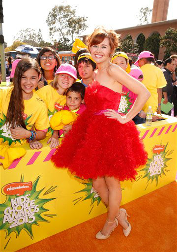 Actress Haley Strode arrives at the 26th annual Nickelodeon&#39;s Kids&#39; Choice Awards on Saturday, March 23, 2013, in Los Angeles.  <span class=meta>(AP photo)</span>