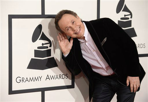 "<div class=""meta ""><span class=""caption-text "">Billy Crystal arrives at the 56th annual GRAMMY Awards at Staples Center on Sunday, Jan. 26, 2014, in Los Angeles.  (Photo/Jordan Strauss)</span></div>"
