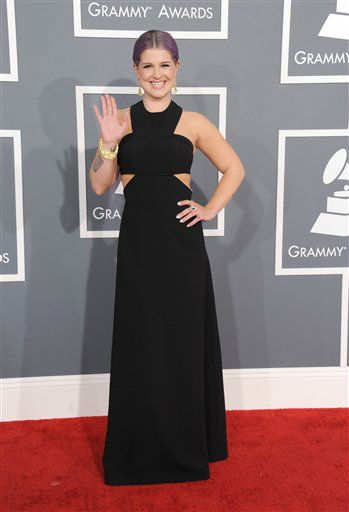 "<div class=""meta image-caption""><div class=""origin-logo origin-image ""><span></span></div><span class=""caption-text"">Kelly Osbourne arrives at the 55th annual Grammy Awards on Sunday, Feb. 10, 2013, in Los Angeles. (AP photo)</span></div>"