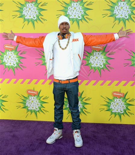 "<div class=""meta image-caption""><div class=""origin-logo origin-image ""><span></span></div><span class=""caption-text"">Actor Nick Cannon arrives at the 26th annual Nickelodeon's Kids' Choice Awards on Saturday, March 23, 2013, in Los Angeles. (AP photo)</span></div>"