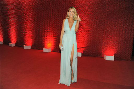 Heidi Klum arrives at the 64th Primetime Emmy Awards Governors Ball on Sunday, Sept. 23, 2012, in Los Angeles. &#40;Photo by Chris Pizzello&#47;Invision&#47;AP&#41; <span class=meta>(Photo&#47;Chris Pizzello)</span>