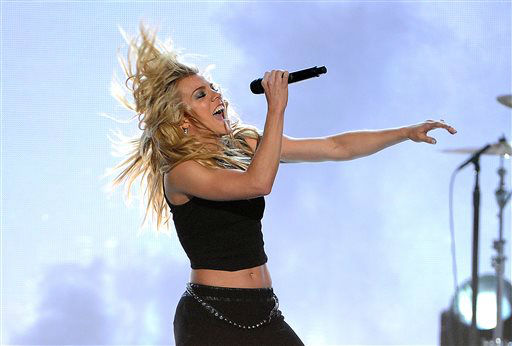 Kimberly Perry, of the musical group The Band Perry, performs at the 49th annual Academy of Country Music Awards at the MGM Grand Garden Arena on Sunday, April 6, 2014, in Las Vegas. &#40;Photo by Chris Pizzello&#47;Invision&#47;AP&#41; <span class=meta>(Photo&#47;Chris Pizzello)</span>