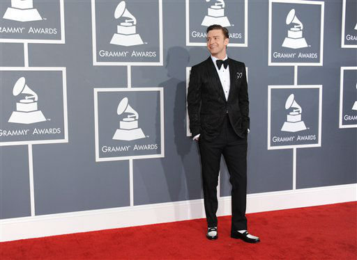 "<div class=""meta image-caption""><div class=""origin-logo origin-image ""><span></span></div><span class=""caption-text"">Musician Justin Timberlake arrives at the 55th annual Grammy Awards on Sunday, Feb. 10, 2013, in Los Angeles.  (AP photo)</span></div>"