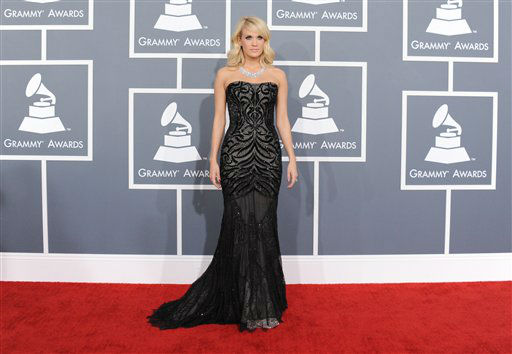 Carrie Underwood arrives at the 55th annual Grammy Awards on Sunday, Feb. 10, 2013, in Los Angeles. <span class=meta>(AP photo)</span>